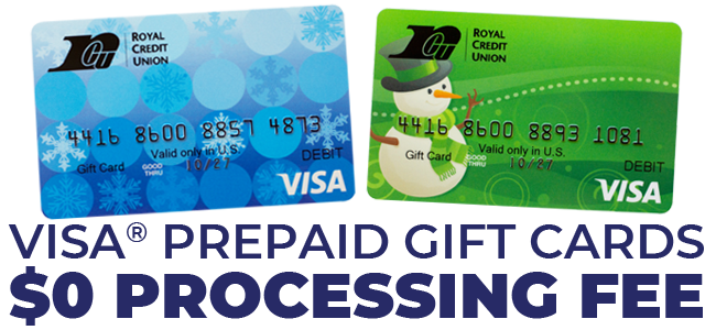 $0 Processing Fee for Visa Prepaid Cards