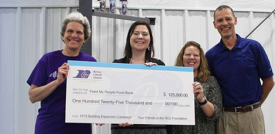 Photo of a big check from the foundation