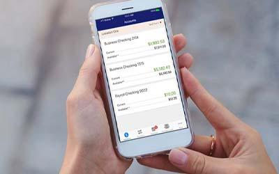 Member using online banking