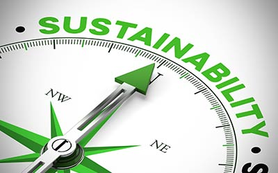 Compass and sustainable graphic