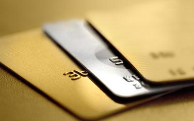 Stack of debit cards