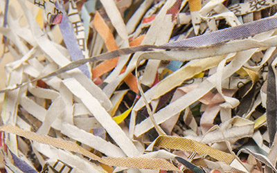 Paper after shredding