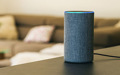 Voice assistant on a counter