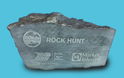 Rock the Riverfront Rock Hunt Rock