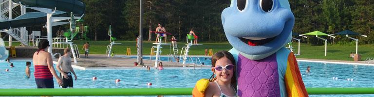 saving sammy at pool