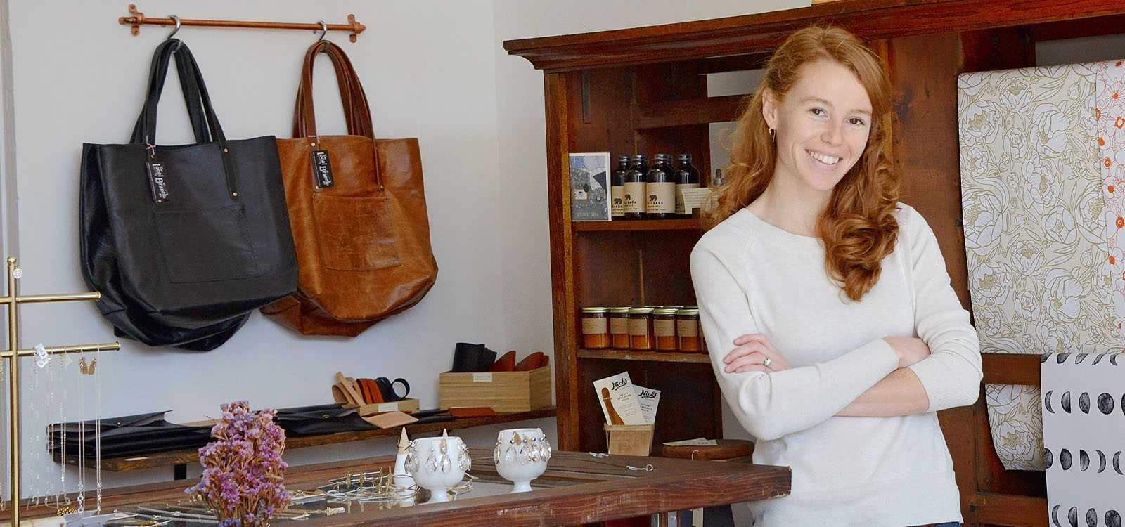young woman in store
