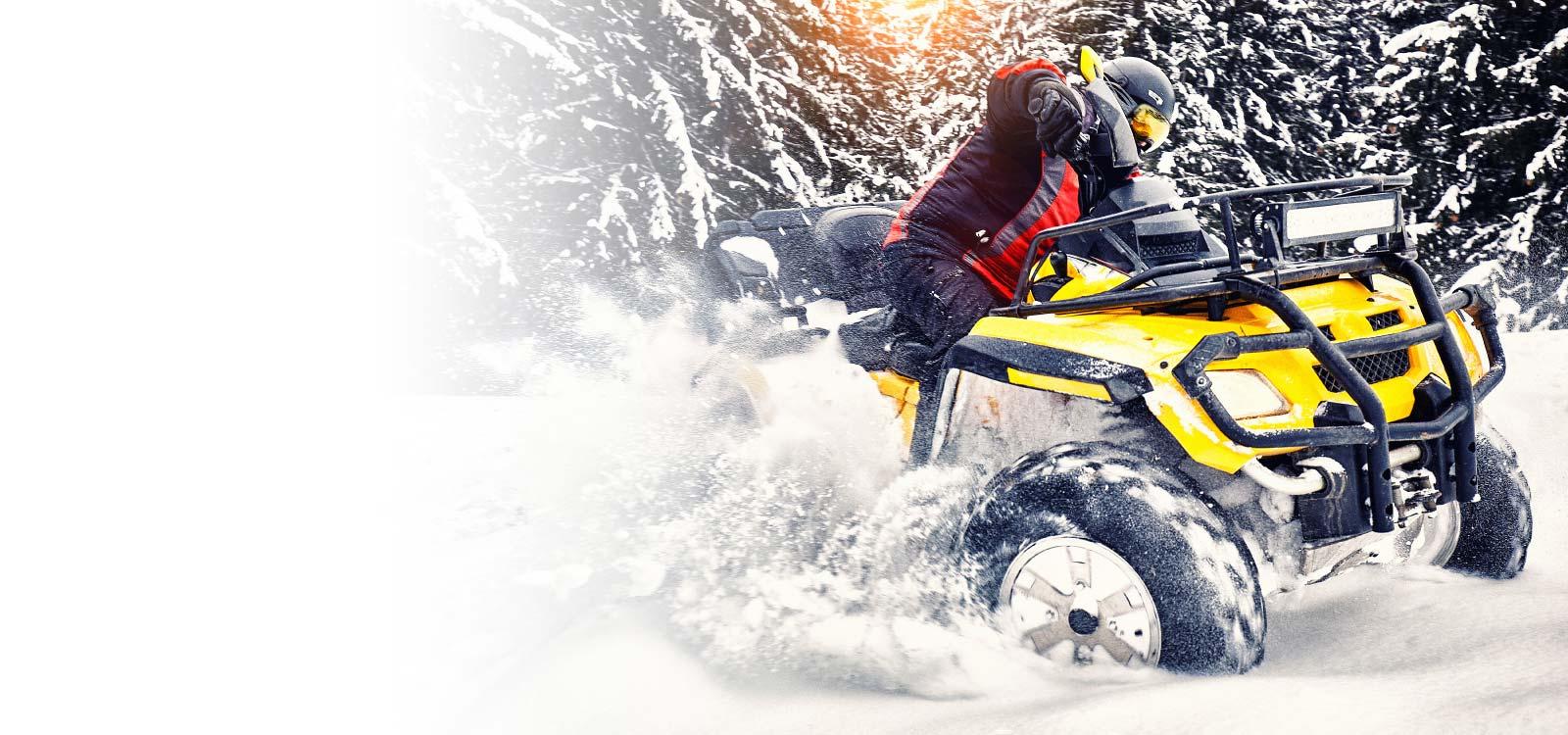 Winter Toy Image ATV rider in the snow