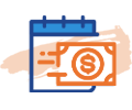 dollar and calendar icon
