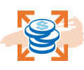 expansion loan icon