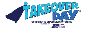 Takeover Day Featuring The Superheroes Of Saving Logo